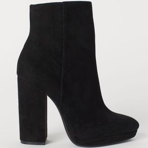 """5"""" Inch Suede Platform Side Zip Ankle Boots"""
